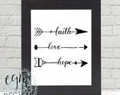 Faith Love Hope Arrows Di...