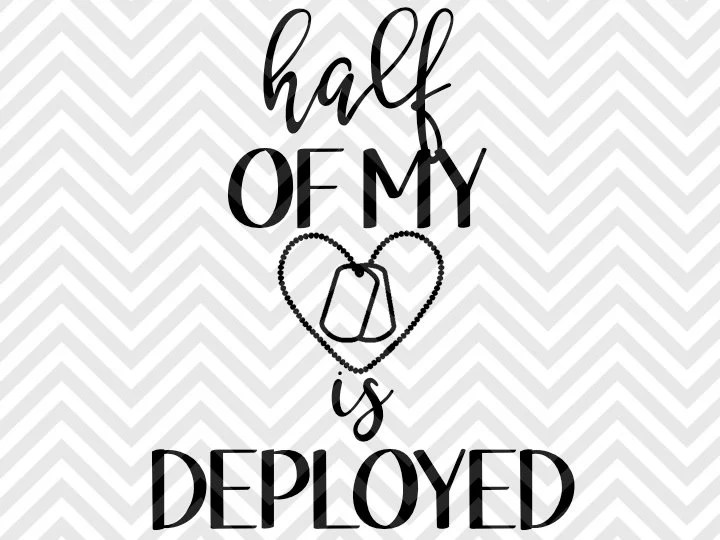 Popular items for half my heart is deployed on Etsy
