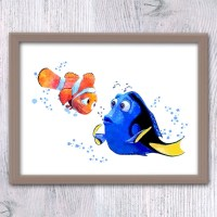 Finding Dory Finding Nemo Wall art watercolor print Nemo