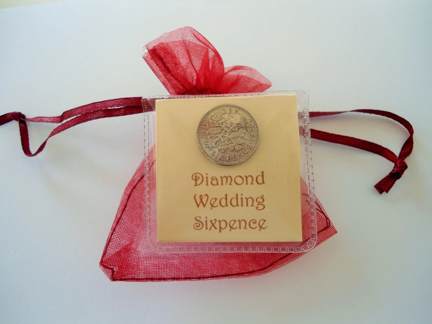 60th Anniversary Gift Diamond Wedding Sixpence 60th By