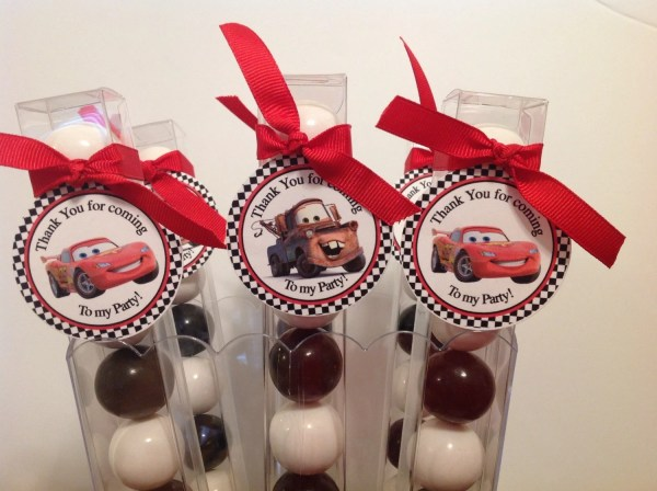Disney Cars Party Favor Gumball Candy