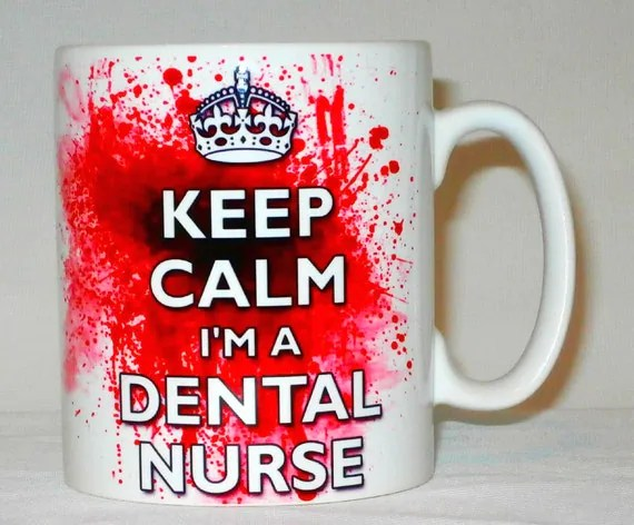 Keep Calm I'm A Dental Nurse Blood Splatter Mug