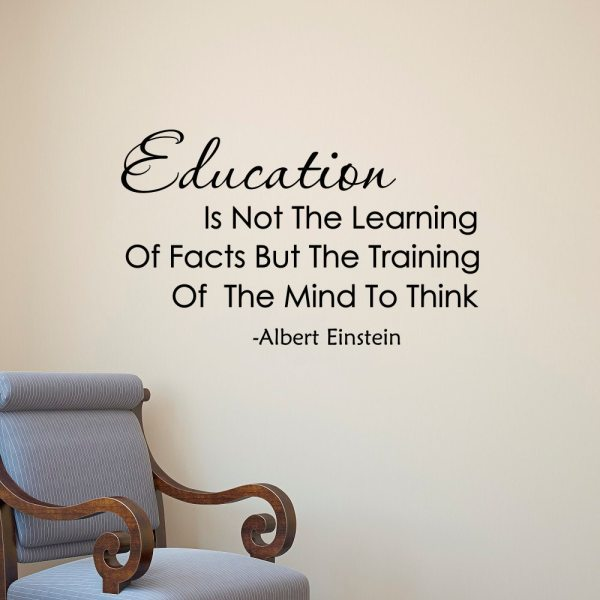 Albert Einstein Quote Education Learning Of Facts