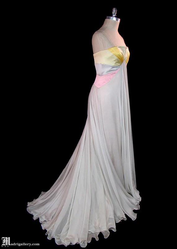 Valentino silk chiffon  charmeuse satin formal evening