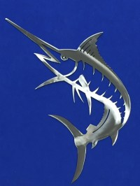 Marlin Metal Wall Art Ocean Nautical Marine Sea Life Beach