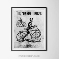 Bicycle Wall Art Antique Art Print Bicycle Print Antique