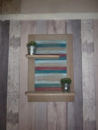 Bathroom Shelving Upcycled Wood Beach Theme Blue by ...