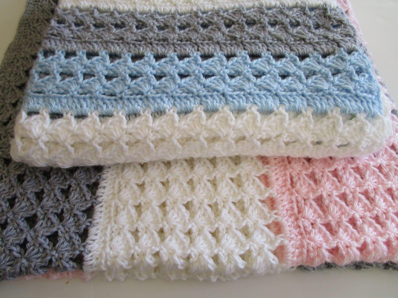 Easy Crochet Blanket Pattern, Slanted Shell Stitch