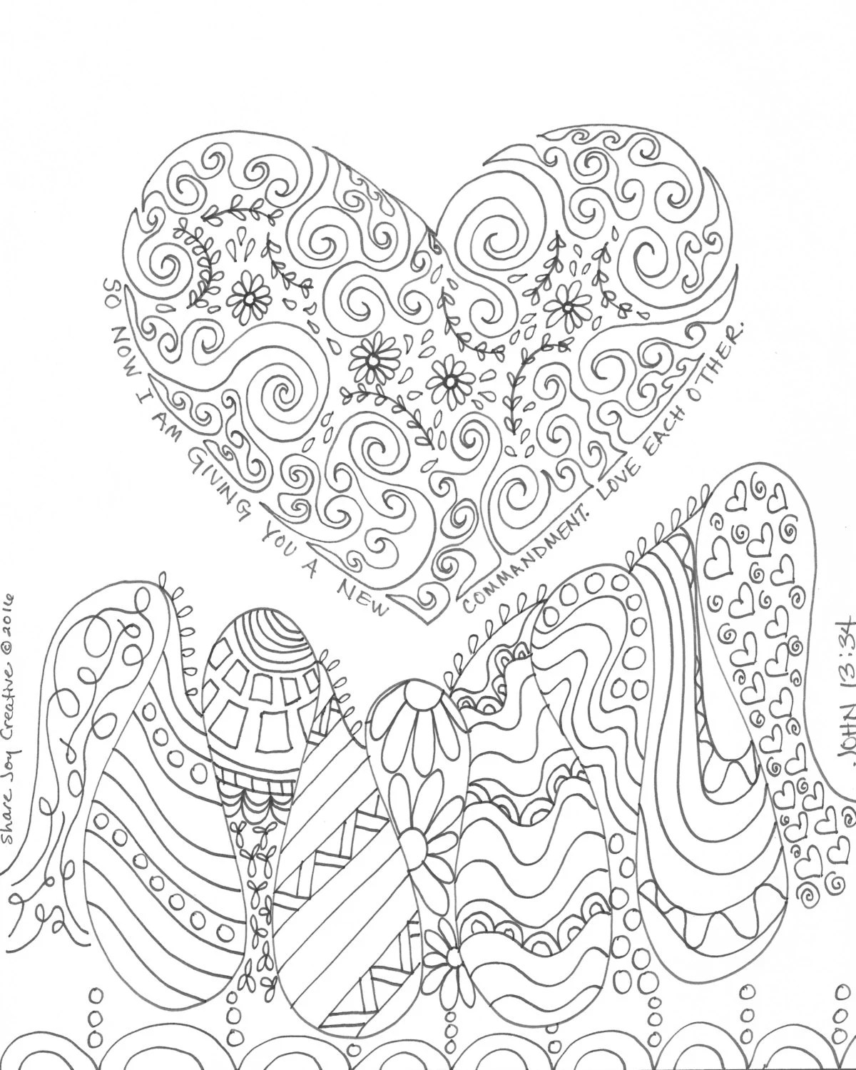 The Fruit of the Holy Spirit Coloring Page