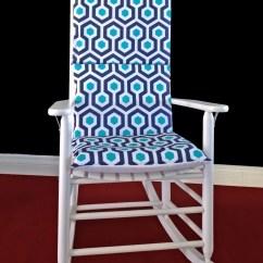 Dorm Chair Covers Etsy Best Guitar Blue Hexagon Geometric Rocking Cushion Cover