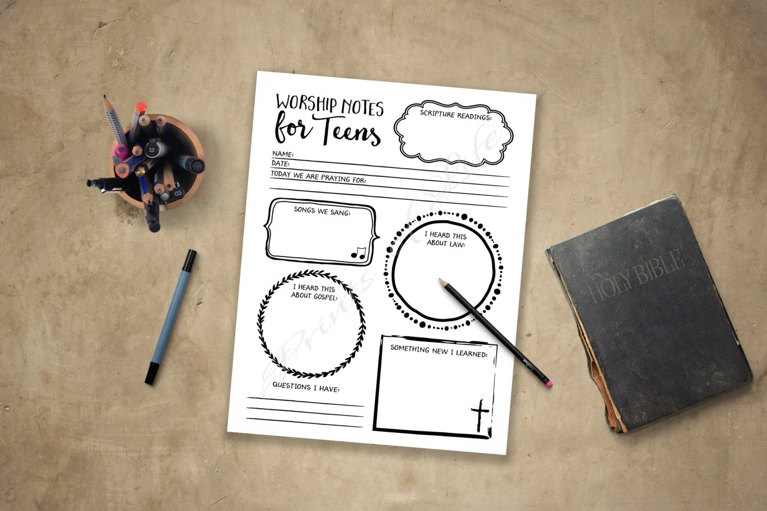 Worship Notes For Teens Sermon Notes Boys Girls Youth
