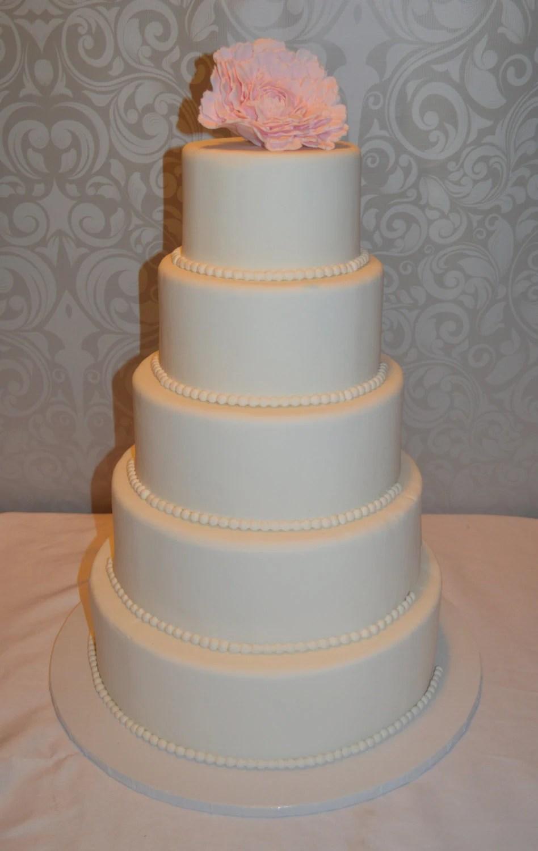Five Tier Fondant Faux Wedding Cake Fake Wedding Cake Faux