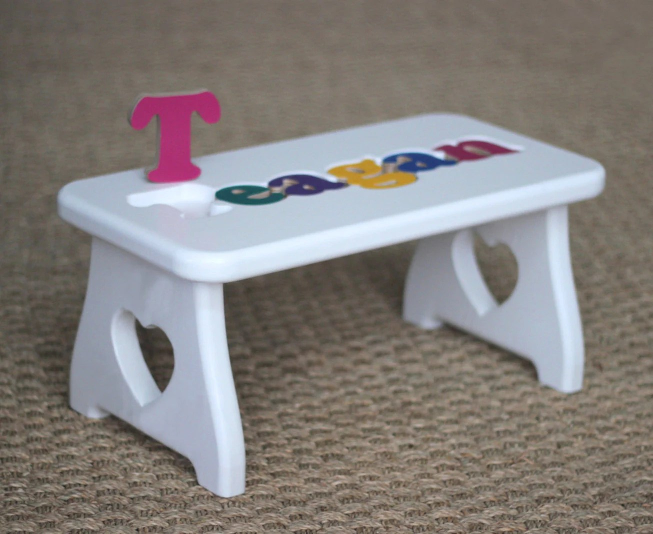 chair stool crossword wood parts suppliers personalized puzzle white heart step love