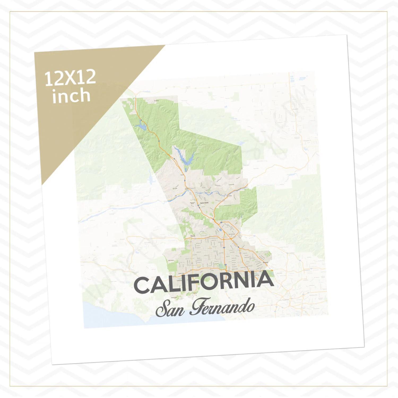California San Fernando Mission Map Mission Boundaries Elder