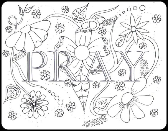 Bible Journaling Coloring Pages 4 pages Set 3 Believe