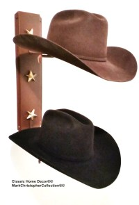 Cowboy Hat Holder Rust with Gold Stars 892