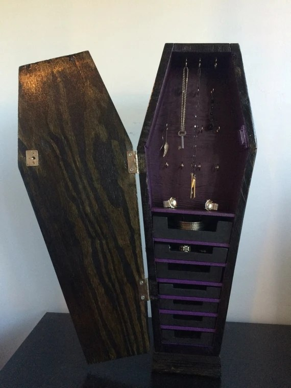 Coffin Jewelry Armoire