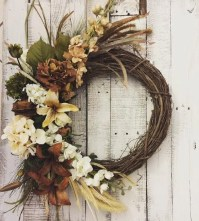 Fall Front Door Front Door Decor Rustic Wreath by ...