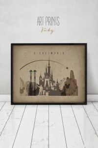 Disney World print Disney world Wall Art Travel Poster