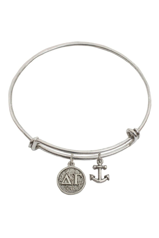 Items similar to Delta Gamma Loom Weave Bracelet, Anchor