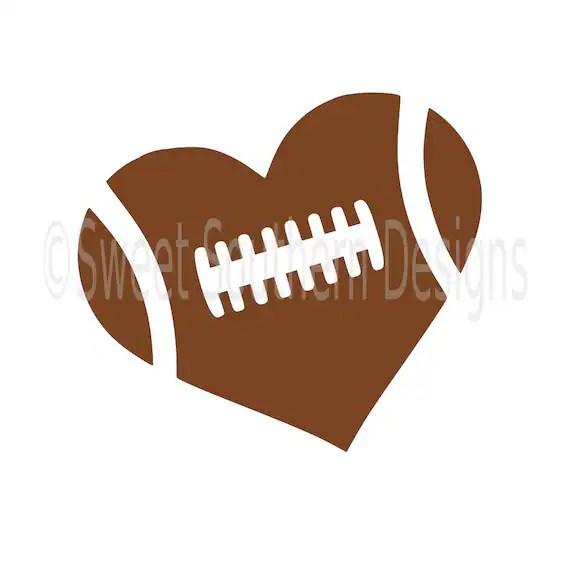 football heart svg instant