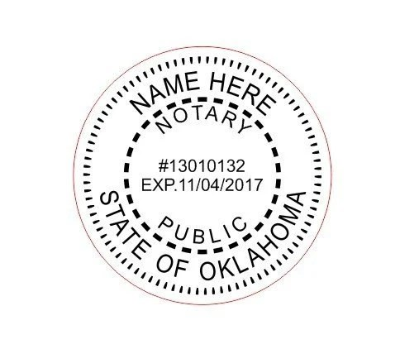 Custom Notary Oklahoma Stamp Style-6 Traxx 9045 Custom