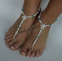 Starfish Foot Jewelry Sandal Anklet Crystal Wedding