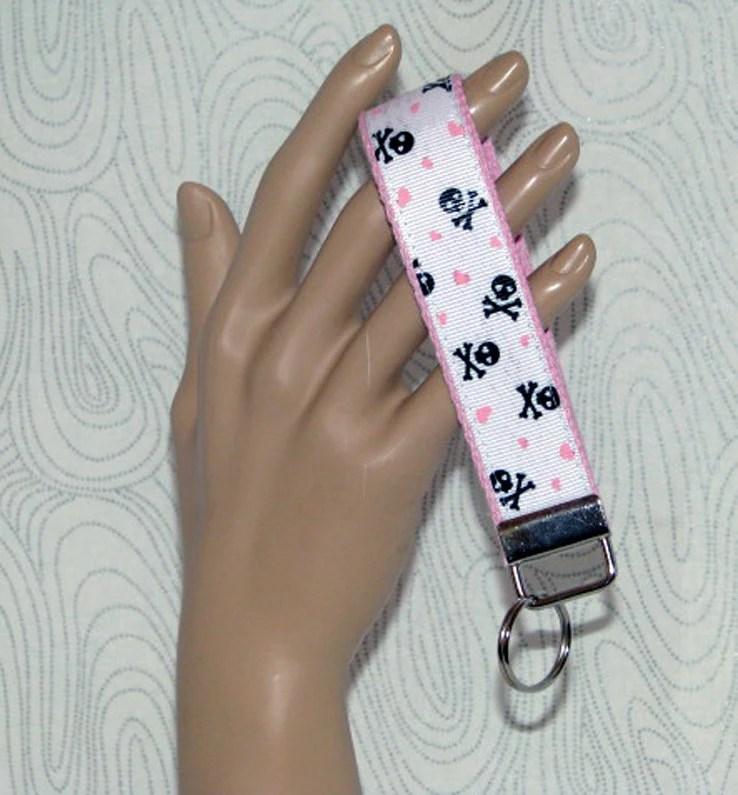 Key fob, key wristlet, skull key holder, skulls, skull key fob, keys, key chain, key holder, keys, house keys, house key holder,