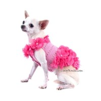 Dog Dress Pink Dog Clothes XXS Beach Summer Pet by myknitt