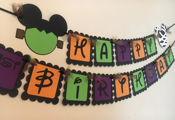 Mickey Mouse Inspired Happy Birthday Banner by