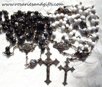 Rosary Wedding Gift Set Catholic Heirloom Wirewrapped Wire