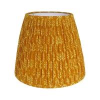 Gathered Lamp Shade Mustard Yellow Lampshade Indian Block