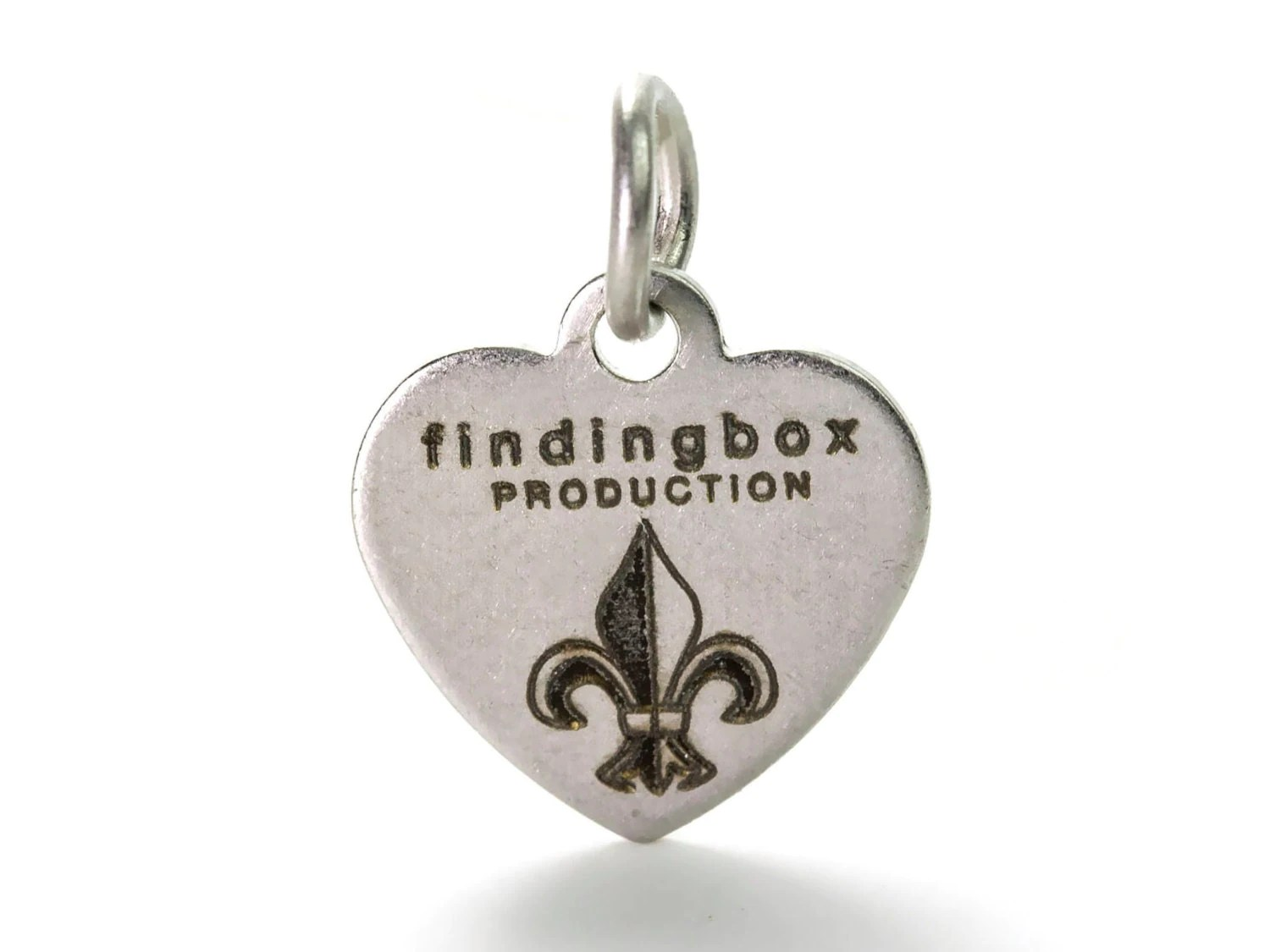 Antique Silver Plated Custom Jewelry Tag Laser Engraved Logo