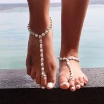 Barefoot Toe Rings Feet