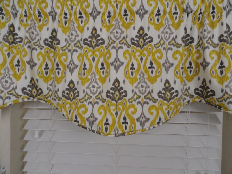 Sale Valance Gray And Yellow Gray Window Valance Window