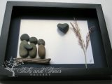 Pebble Art Family Gifts Personalized Family Present Unique