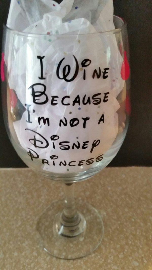 Wine ' Disney Princess Glass