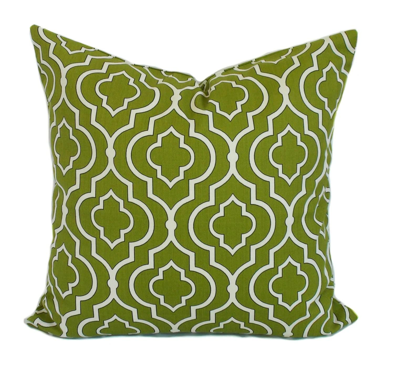 Green pillow covers Throw pillows Toss pillow by PillowCorner