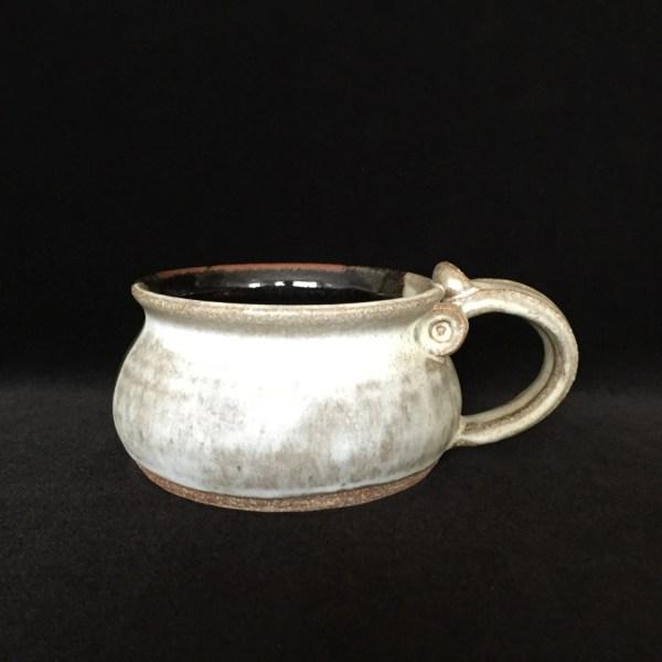 Soup Mug Thumb Rest Handle Studio Pottery Arsfhomedecor