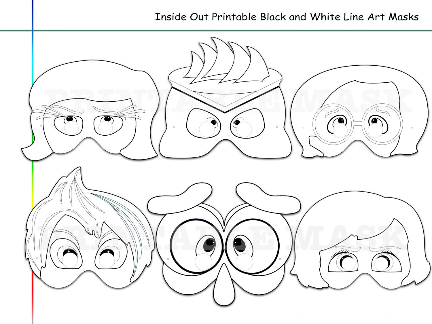 Coloring Pages Inside Out Printable Black and White Line Art