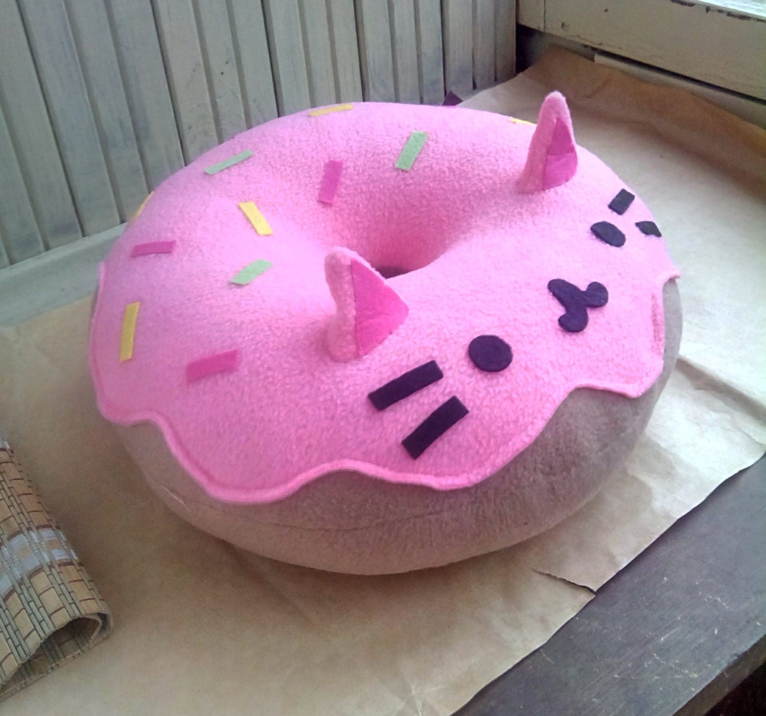 anime bean bag chair designer covers gregory hills nsw cat pillow kitty donut plush pink free shipping