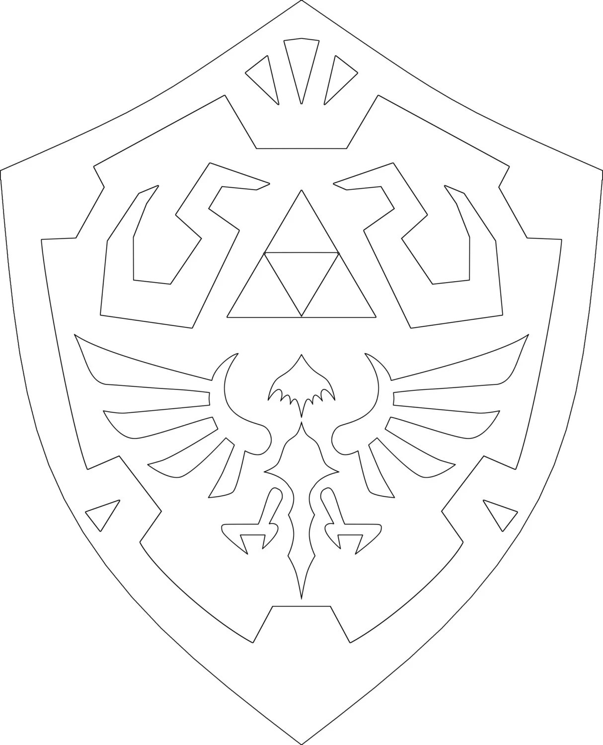 Hand Embroidery Hyrule Crest Shield Pattern PDF Download