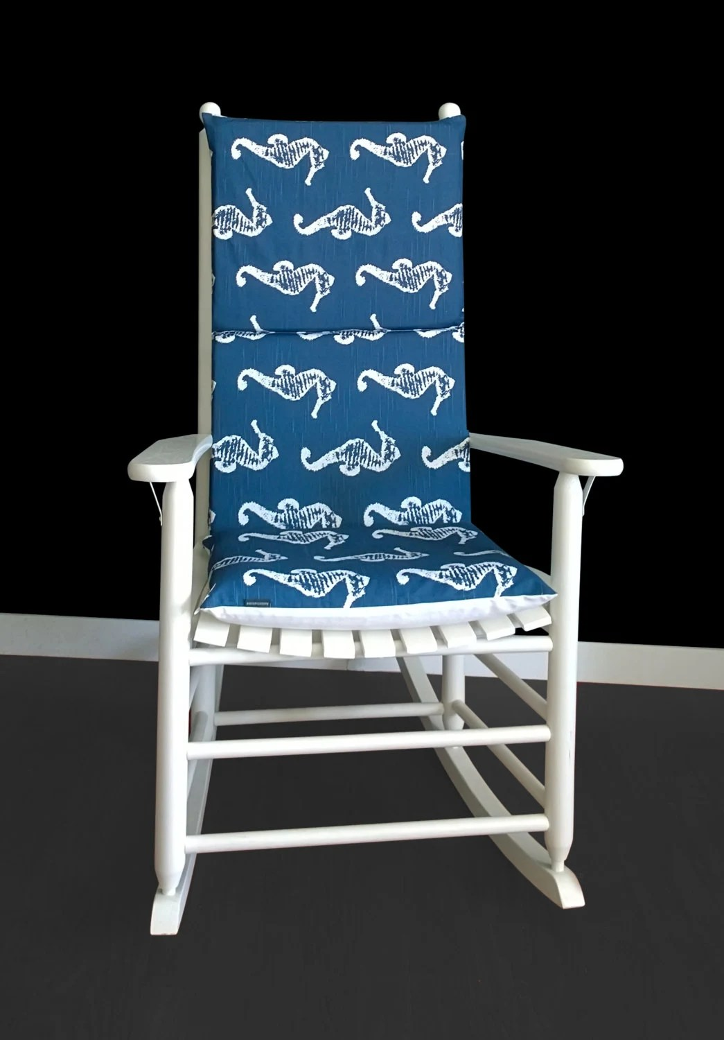 Navy Rocking Chair Navy Seahorse Rocking Chair Covers