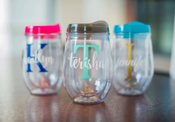 Personalized Wine Glass Tumblers