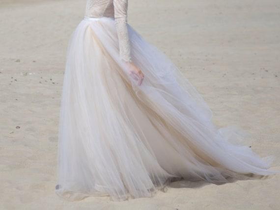 Zephyra Wedding Tulle Skirt / Beach Bridal Skirt / Tulle