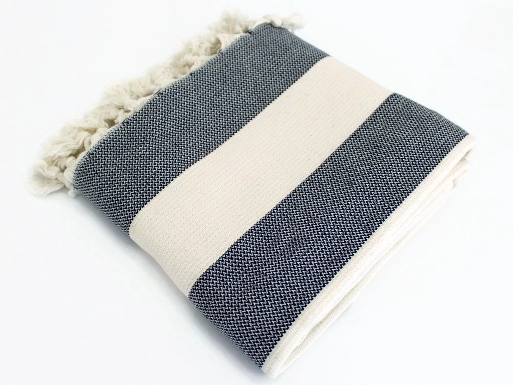 navy blue striped sofa sectionals sofas for sale throw blanket organic wrap by