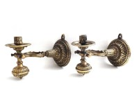 Nautical Sconces / Pair Antique Solid Brass Nautical Sconce