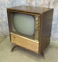1959 Motorola Television Set Mid Century Console Cabinet Tv