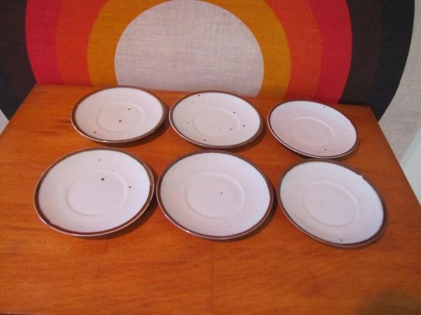 Dansk Brown Mist Denmark Dinnerware Set Of 6 Saucers Nils