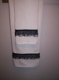 Decorative Bath Towel Set Black White by AffordableGiftsByLJ